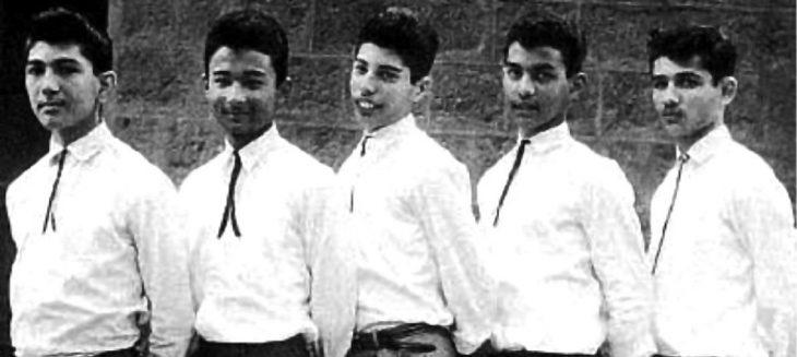 Freddie Mercury junto a sus compañeros de escuela a los 12 años