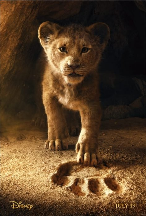 Poster oficial película El Rey León 2019