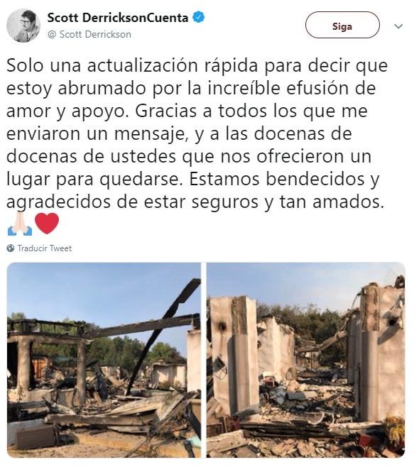 casa destruida por llamas