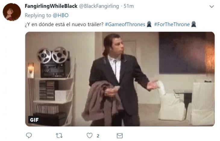 Reacción de usuarios de Twitter al nuevo teaser de la temporada 8 de Game of thrones