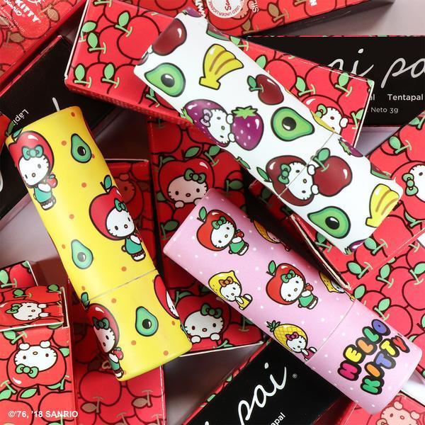 Labiales hechos por pai pai en colaboración con Hello Kitty