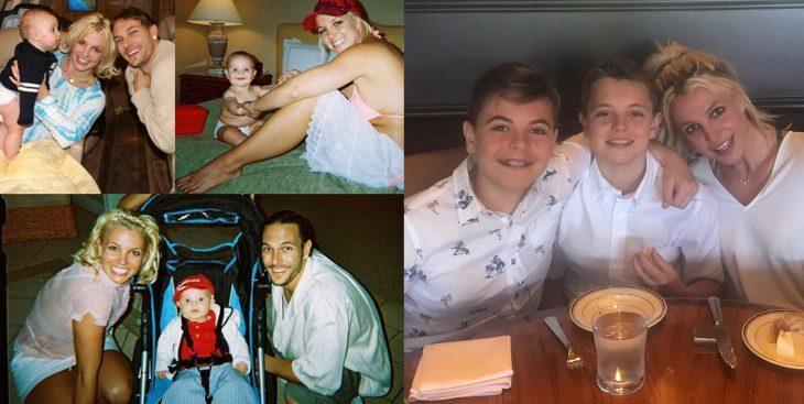 Hijos de Britney Spears antes y después