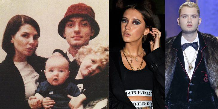 Hijos de Jude Law antes y después