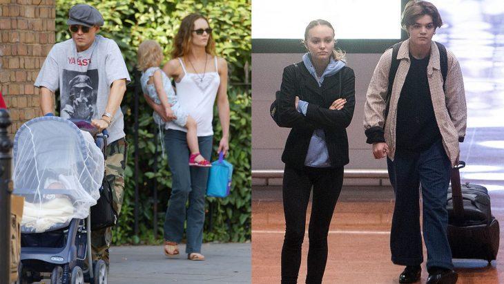Hijos de Johnny Depp antes y después