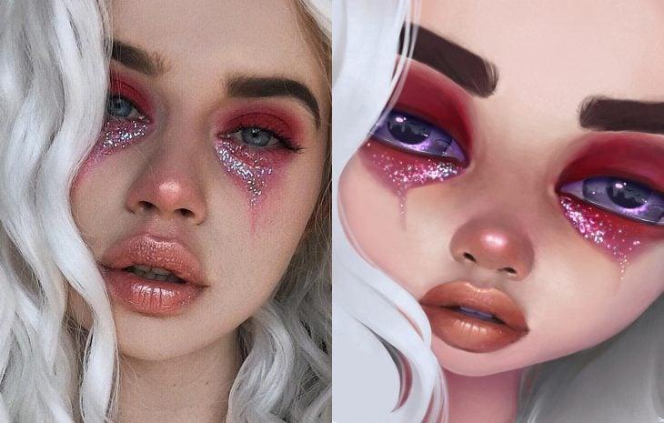 Artista ilustra personas para resaltar su belleza