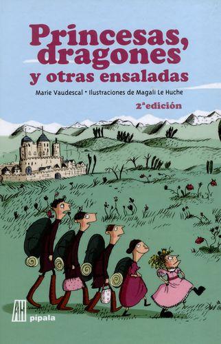 portada del libro princesas, dragones y otras ensaladas