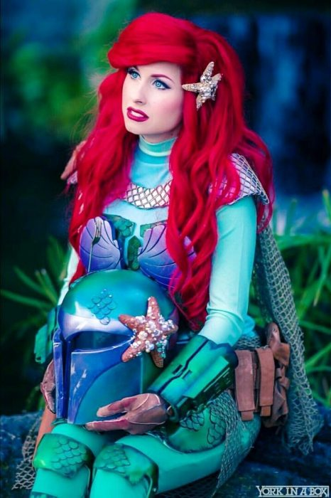 Cosplay de Ariel combinado con Star Wars