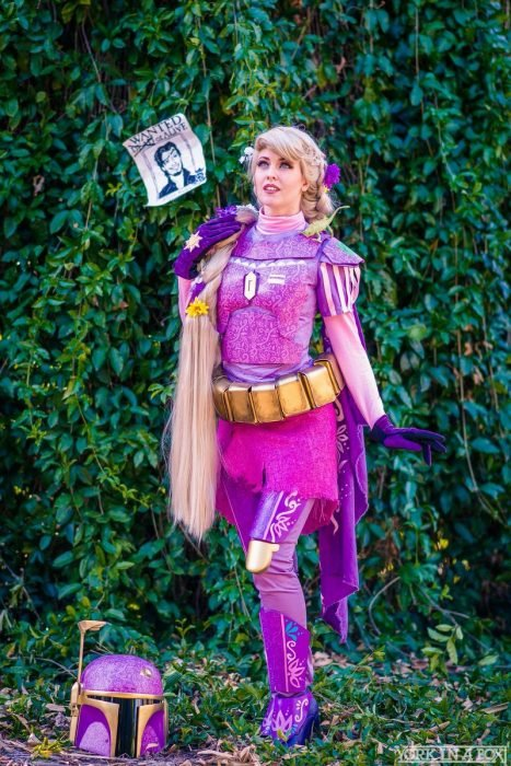 Cosplay de Rapunzel combinado con Star Wars