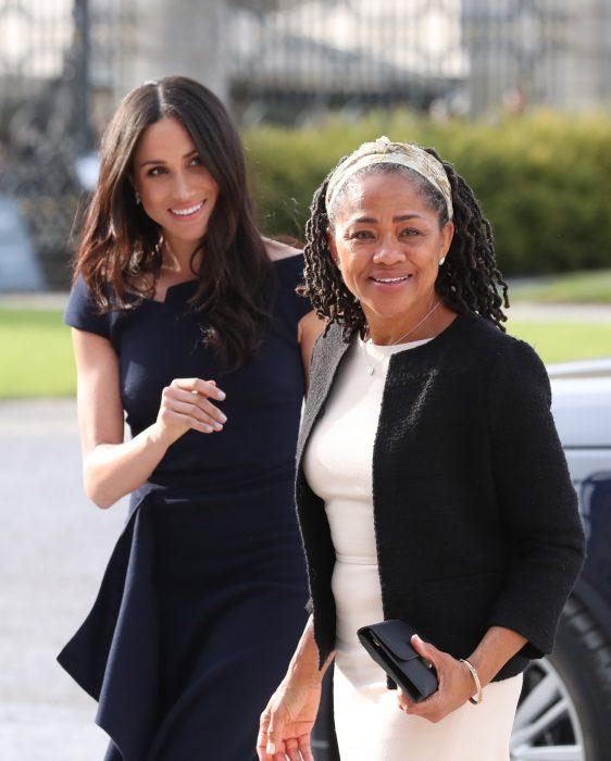 Meghan Markle junto a su madre un día antes de la boda real