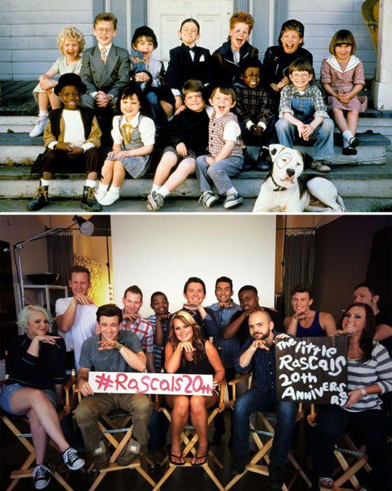 Elenco de la película Los little rascals reunidos antes y después