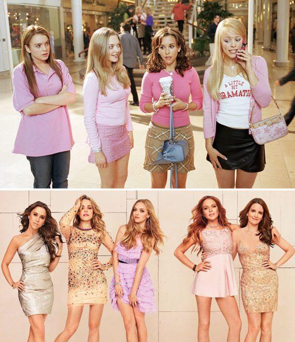 Elenco de la película Los chicas pesadas reunidos antes y después