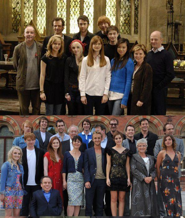 Elenco de la película harry Potter reunidos antes y después