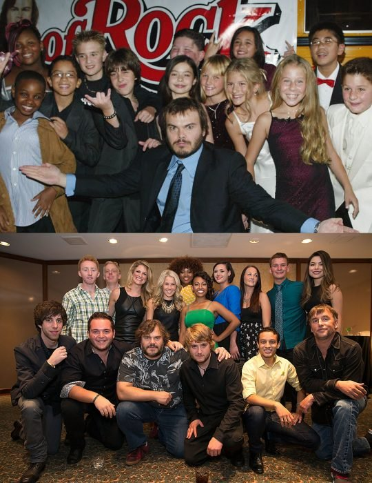 Elenco de la película la escuela del rock reunidos antes y después