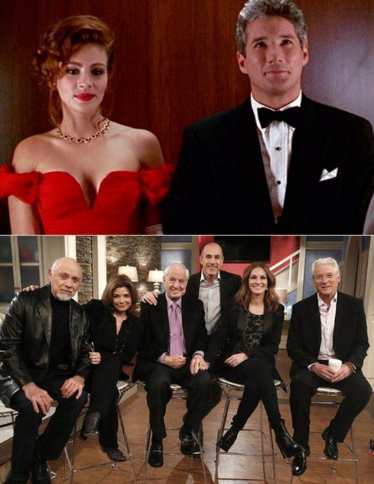 Elenco de la película Mujer bonita reunidos antes y después