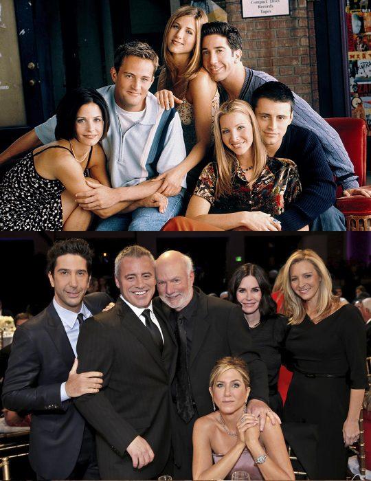 Elenco de la serie Friends reunidos antes y después