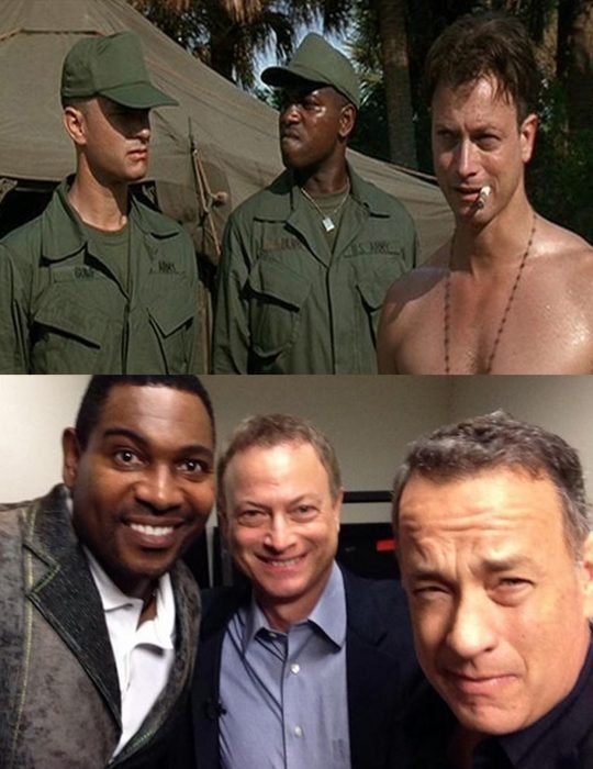 Elenco de la película Forrest Gump reunidos antes y después