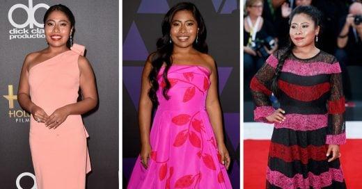 13 Looks de Yalitzia Aparicio posando como la estrella de cine en la que se ha convertido