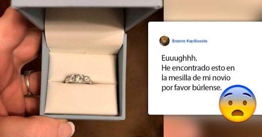 Esta mujer encontró un anillo en la mesilla de su novio y lo publicó en un grupo de burla de anillos