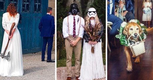 15 personas que tuvieron bodas creativas y mágicas