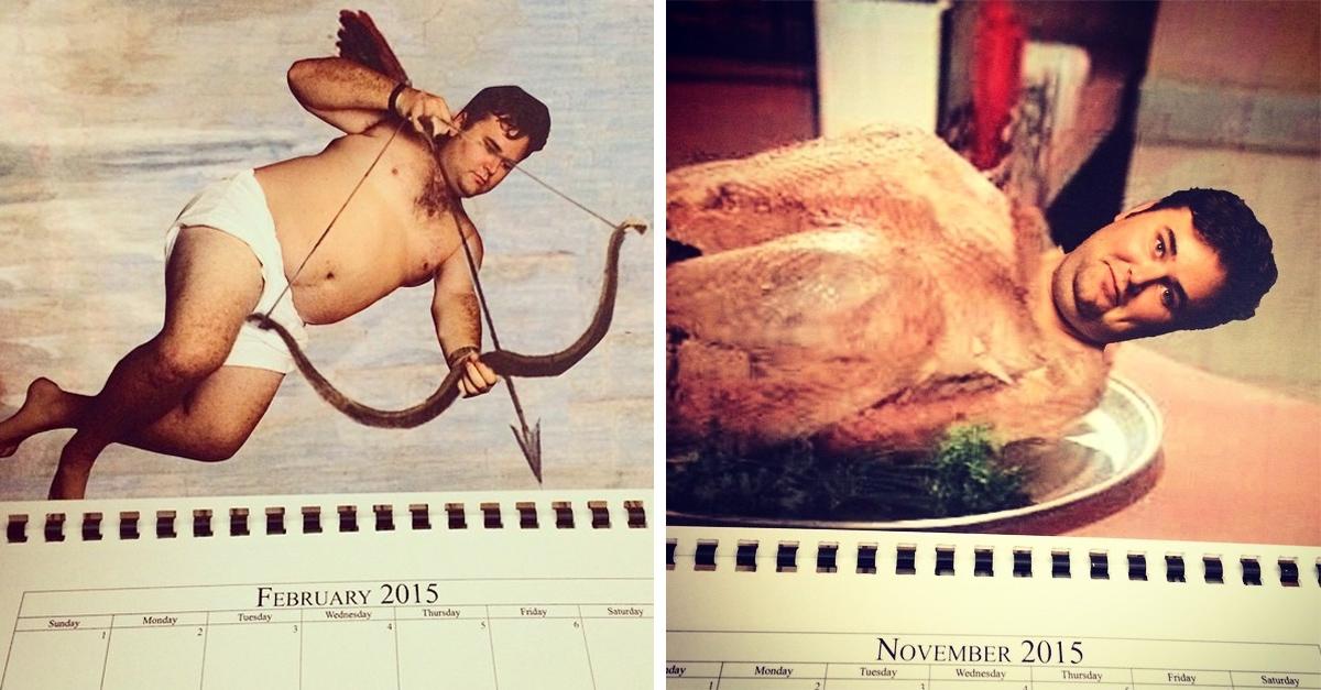 Este hombre hizo un calendario ingenioso y sarcástico