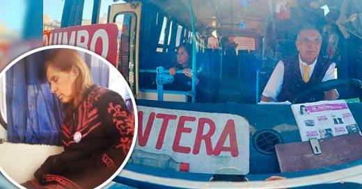 Chófer de 71 viaja con esposa enferma porque no tiene dinero para pagar enfermera