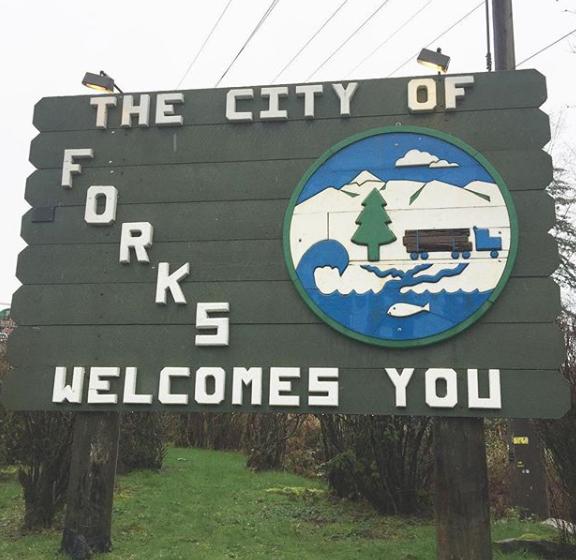 Letrero de Forks