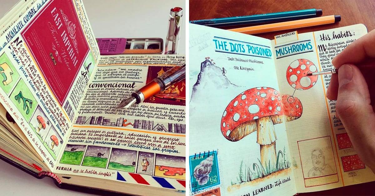 Renunció a su trabajo de aeronáutico para crear los cuadernos de viaje más maravillosos del mundo
