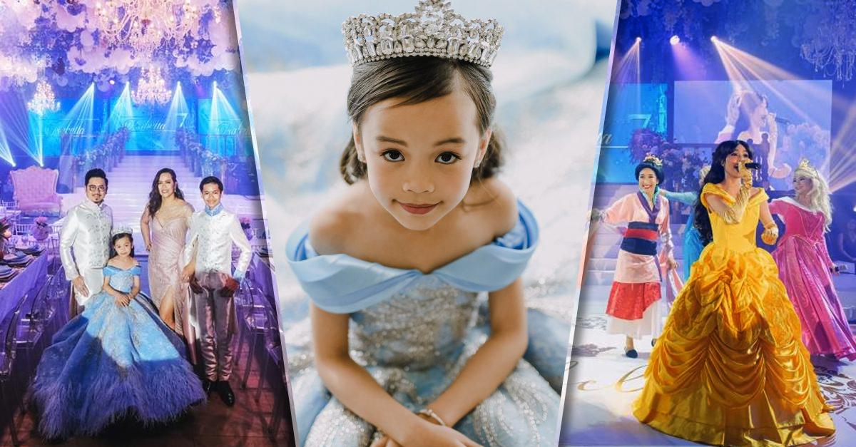 Niña filipina deja boquiabiertos a sus invitados la fiesta más elegante y epica; ¡cumple 7 años!