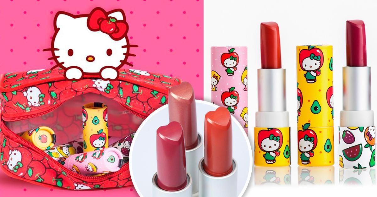 Hello Kitty se unió a Pai Pai para lanzar una colección de labiales