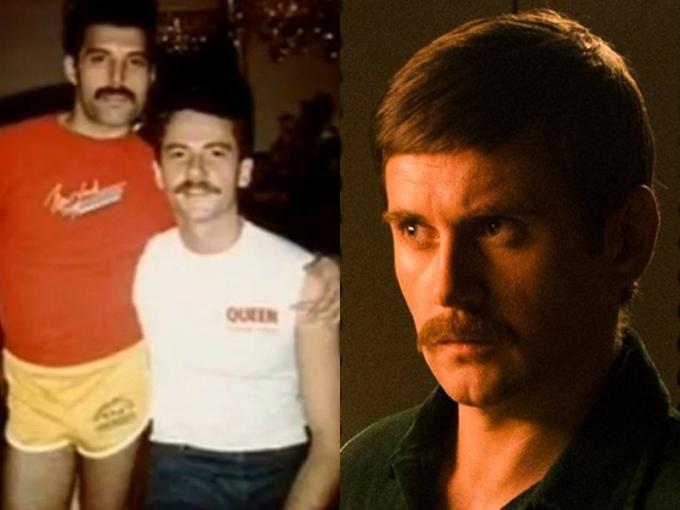 hombre con bigote y hombre alto con bigote