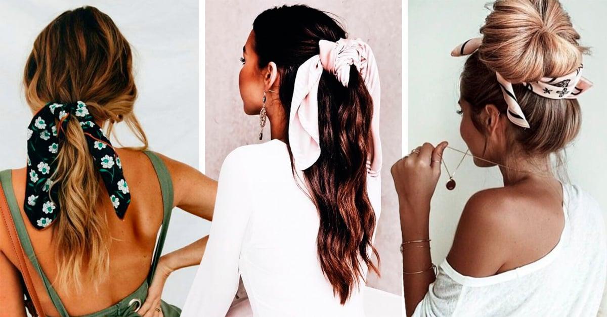 13 Peinados Sencillos Y Bonitos Usando Pañuelos De Seda