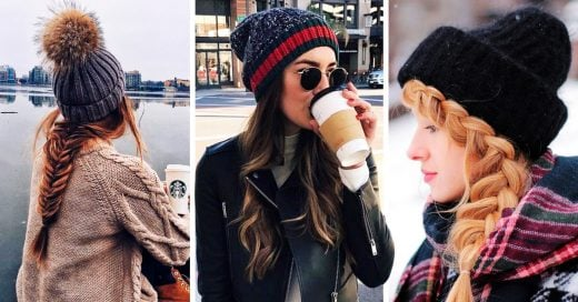 14 Maneras para peinarte si quieres usar gorro este invierno