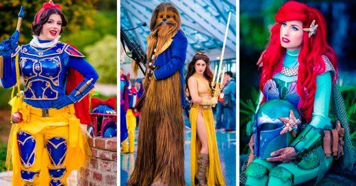 Así de increíbles se verían las princesas Disney si fueran parte del mundo de Star Wars