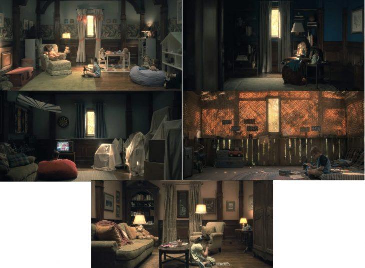 escenas de ls serie Hill House