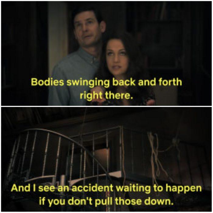 pareja de esposos abrazados bajo las escaleras