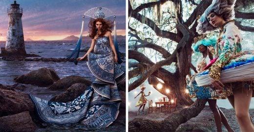 Esta sesión de fotos de moda inusual fue inspirada en los cuentos de hadas