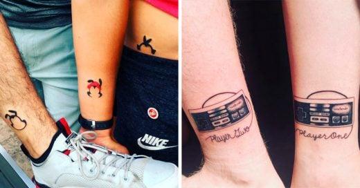 13 Tatuajes para compartir con tus hermanos no olvidar todo lo que los une