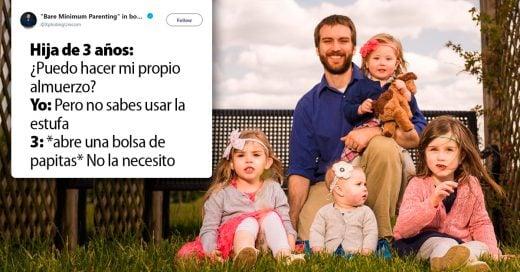 Padre comparte graciosas anécdotas de sus hijas en Twitter y se vuelve viral
