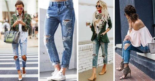 d4f6aef573 15 Estilos de zapatos que son el match perfecto para tus jeans rotos