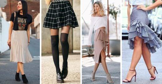 10 Combinaciones de faldas y zapatos que se ven geniales y querrás intentar