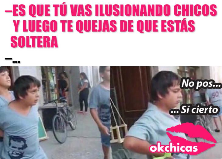 captura de pantalla memes okchicas niño peleando
