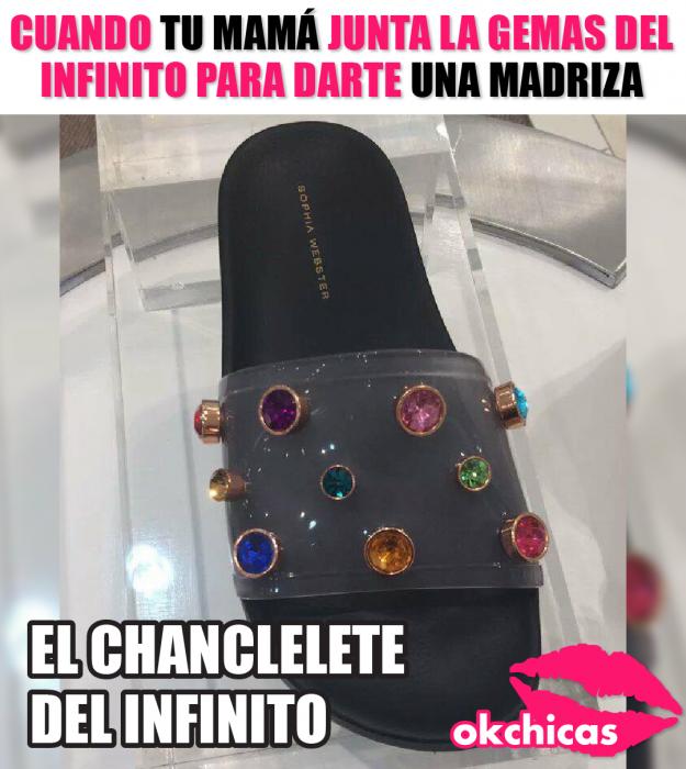captura de pantalla memes okchicas sandalia con piedras