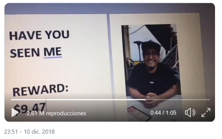 captura de pantalla video twitter