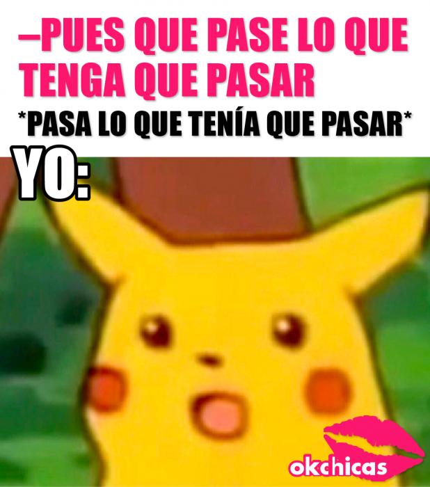 captura de pantalla memes okchicas picachu