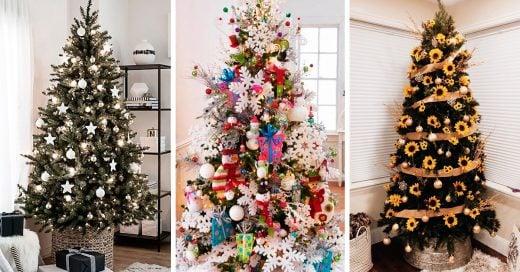 15 Decoraciones de pinos tan espectaculares que te matarán tu lado Grinch esta Navidad