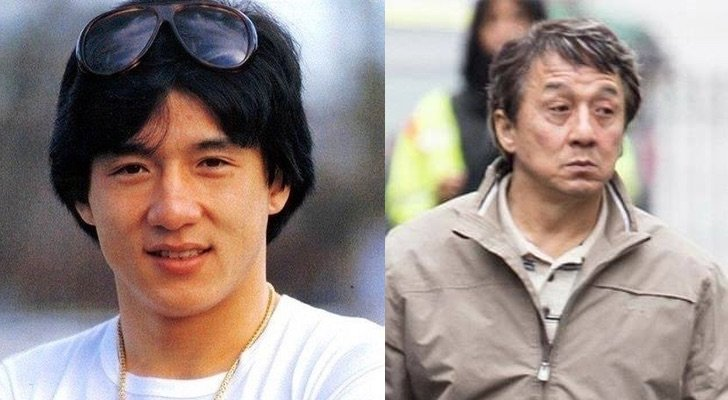 Jackie Chan de joven y de viejo
