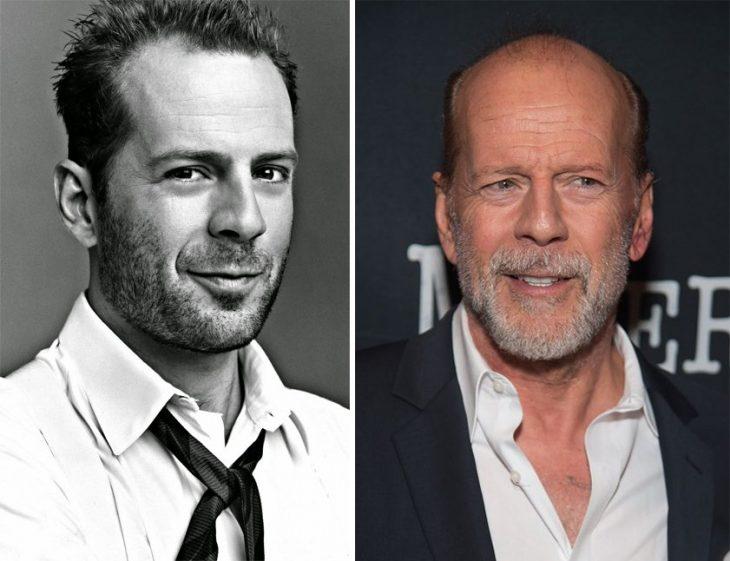 Bruce Willis antes y después de envejecer