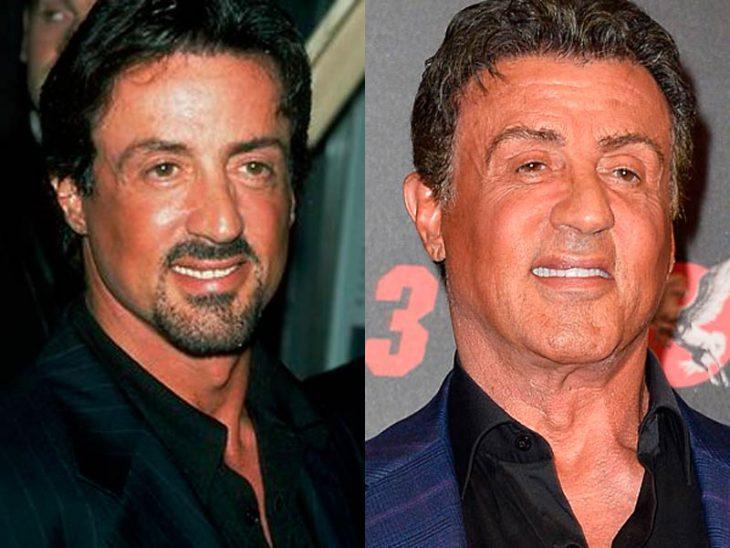Sylverster Stallone antes y después de viejo