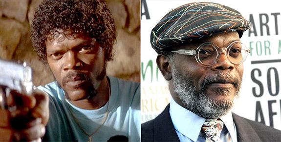 Samuel L Jackson antes y después de viejo