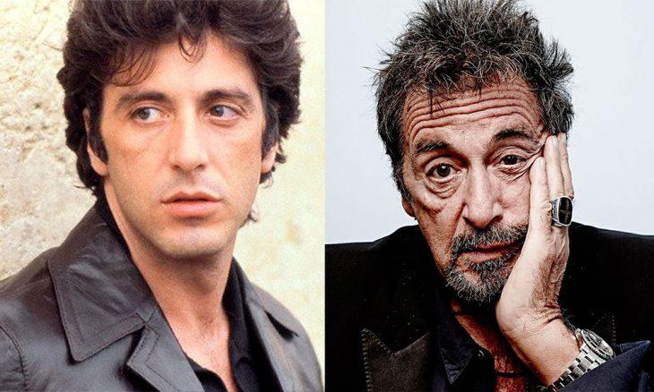 Al Pacino en su juventud y después en la vejez